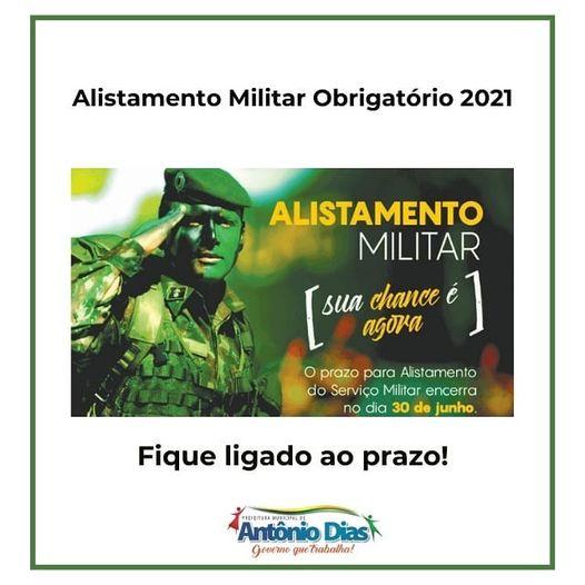 FIQUE LIGADO - ALISTAMENTO MILITAR OBRIGATÓRIO 2021