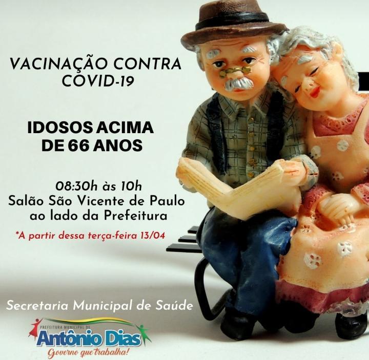 VACINAÇÃO CONTRA COVID-19 DE IDOSOS ACIMA DE 66 ANOS