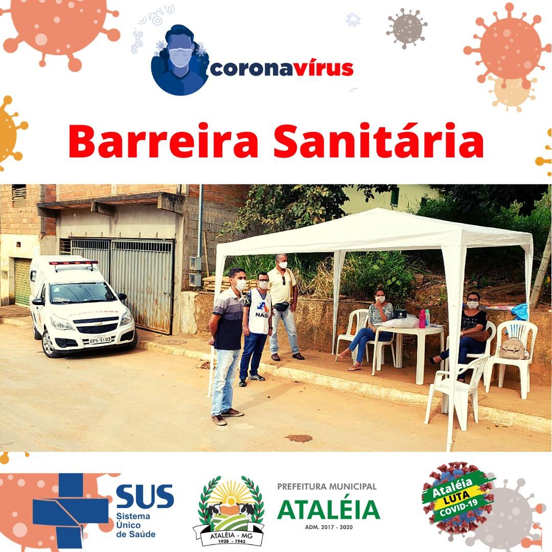 BARREIRAS SANITÁRIAS ATUANDO EM  ENTRADAS DO MUNICÍP...