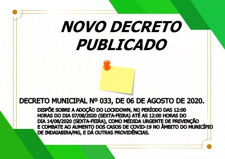 DECRETO 33/2020