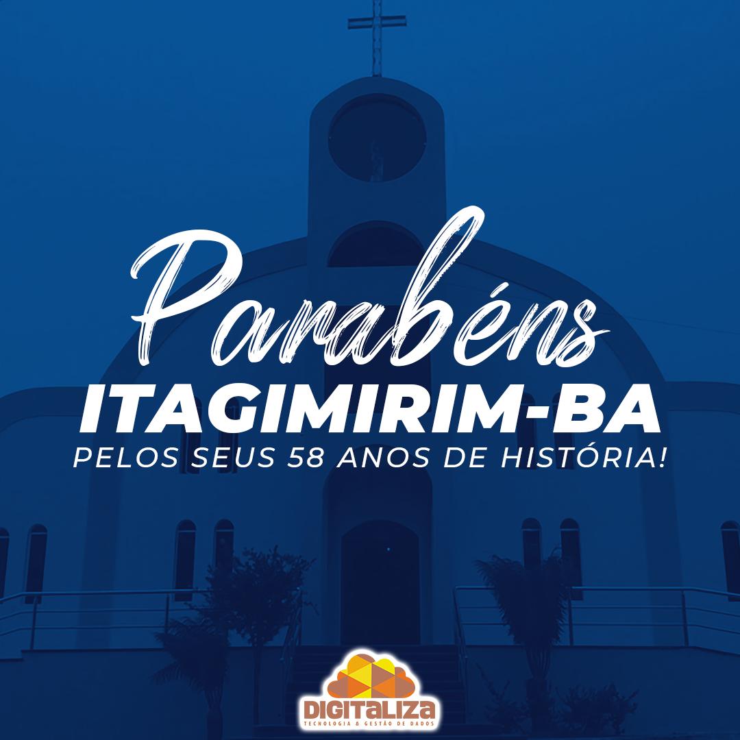 Parabéns Itagimirim pelos seus 58 anos de história!
