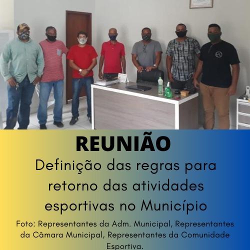 REUNIÃO - RETORNO DAS ATIVIDADES ESPORTIVAS NO MUNIC...