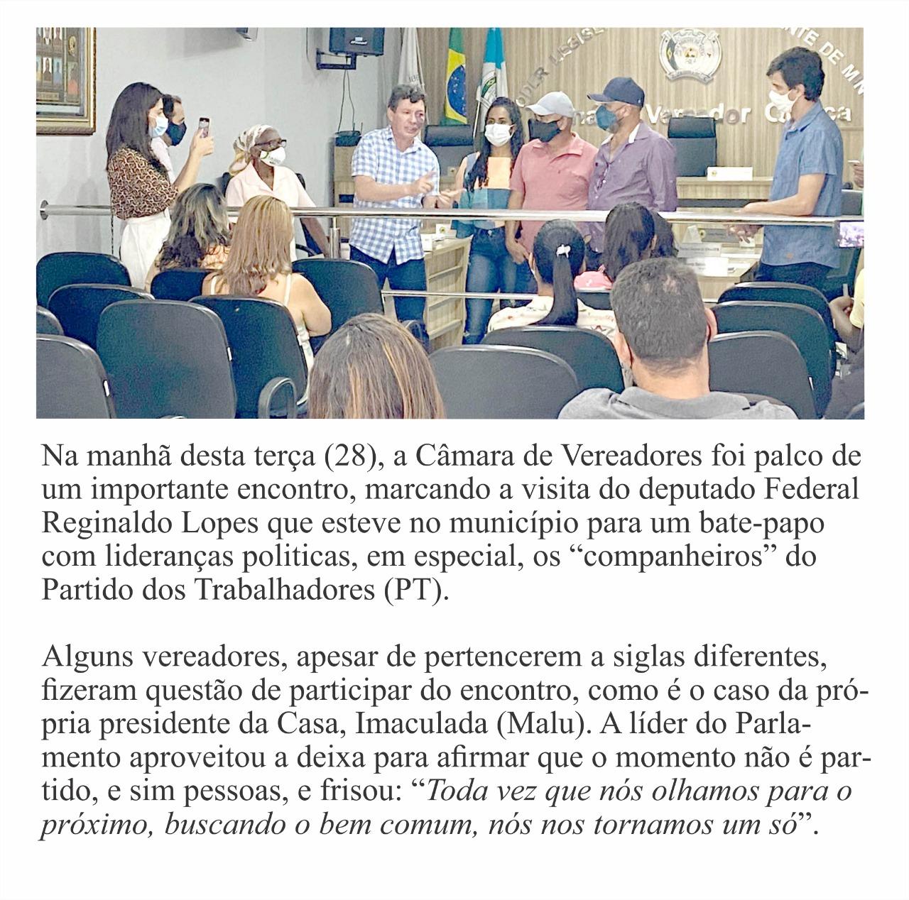 BATE PAPO COM LIDERANÇAS POLÍTICAS