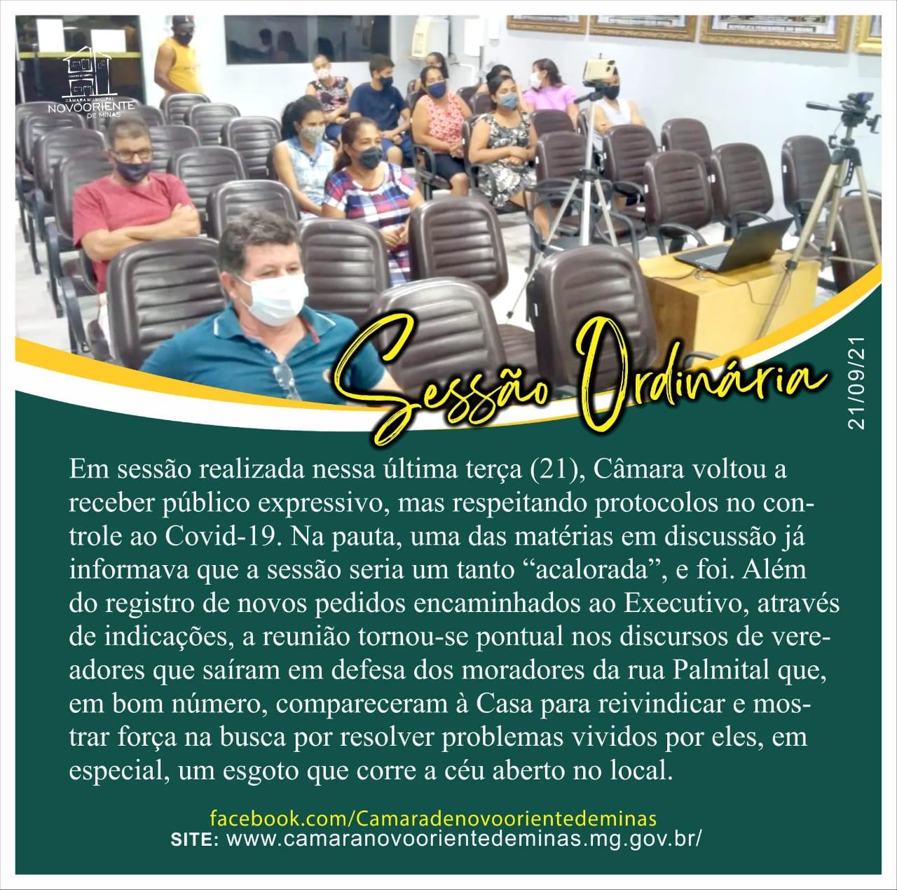 SESSÃO ORDINÁRIA - 21/09/2021