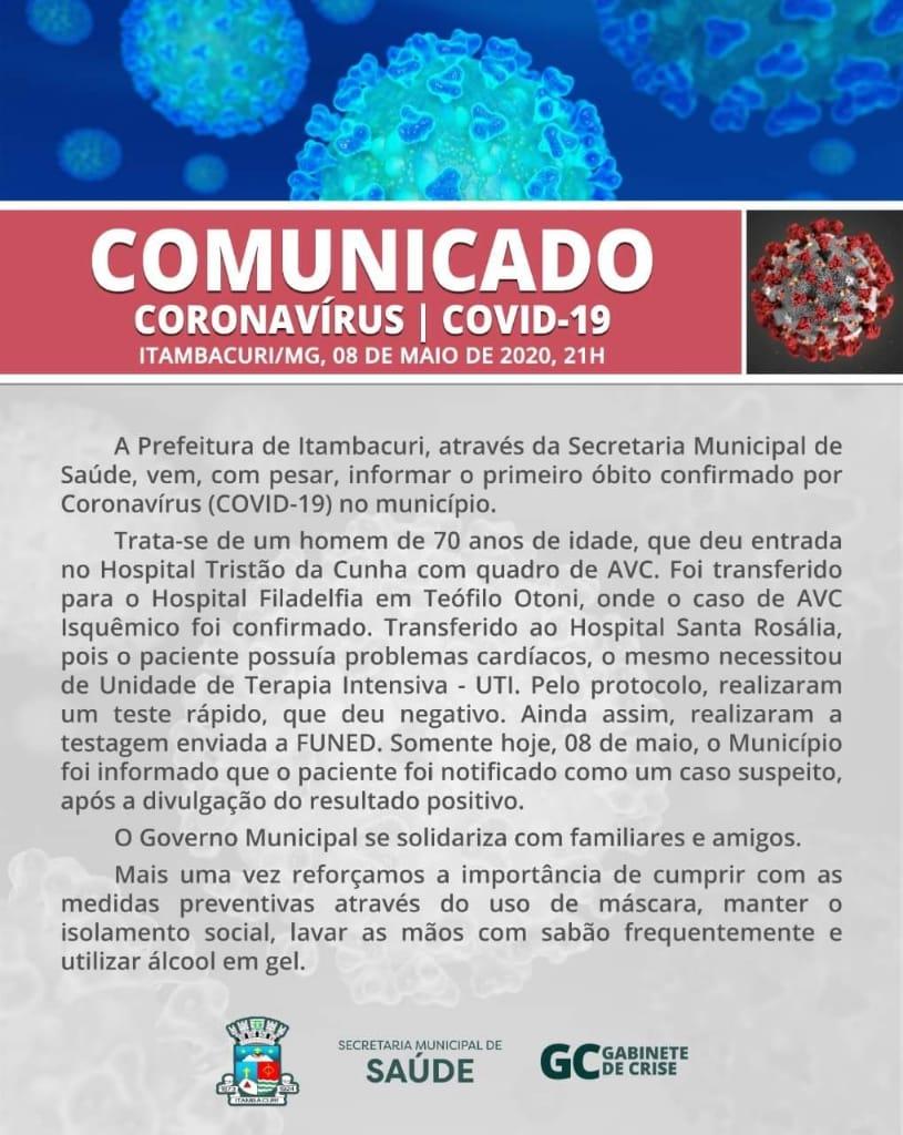 COMUNICADO CORONAVÍRUS - COVID 19