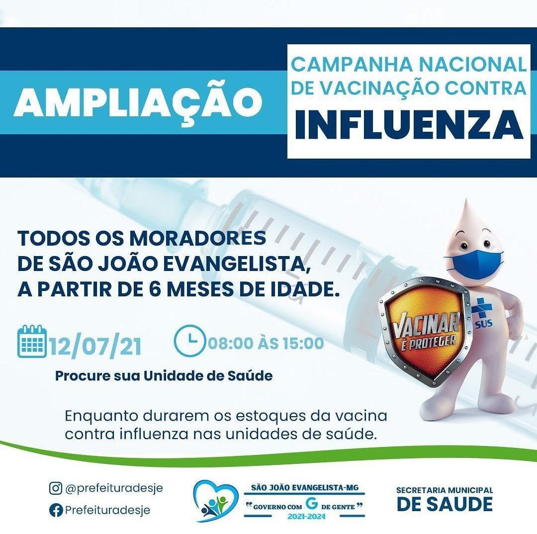 AMPLIAÇÃO DA CAMPANHA NACIONAL DE VACINAÇÃO CONTRA I...