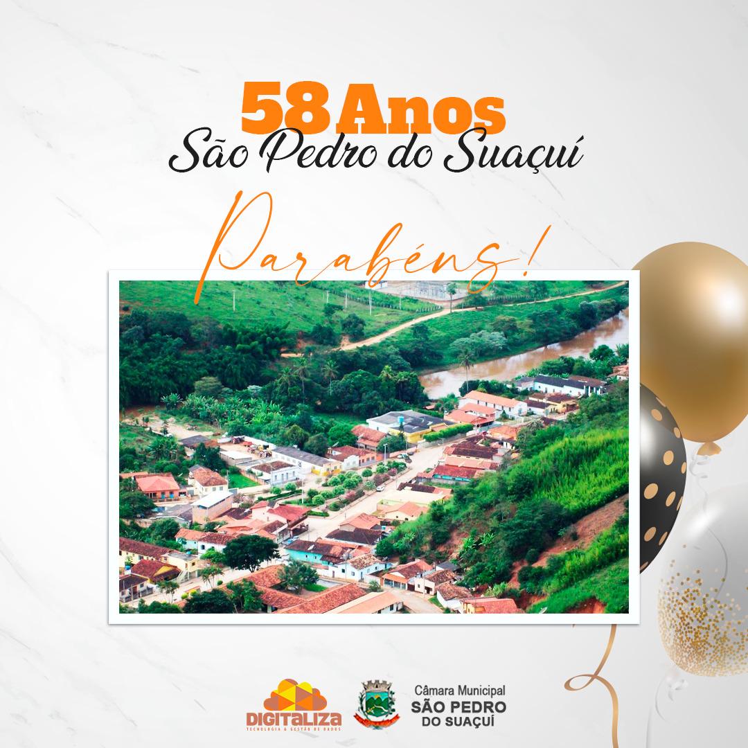 58 ANOS DA NOSSA CIDADE - SÃO PEDRO DO SUAÇUÍ!
