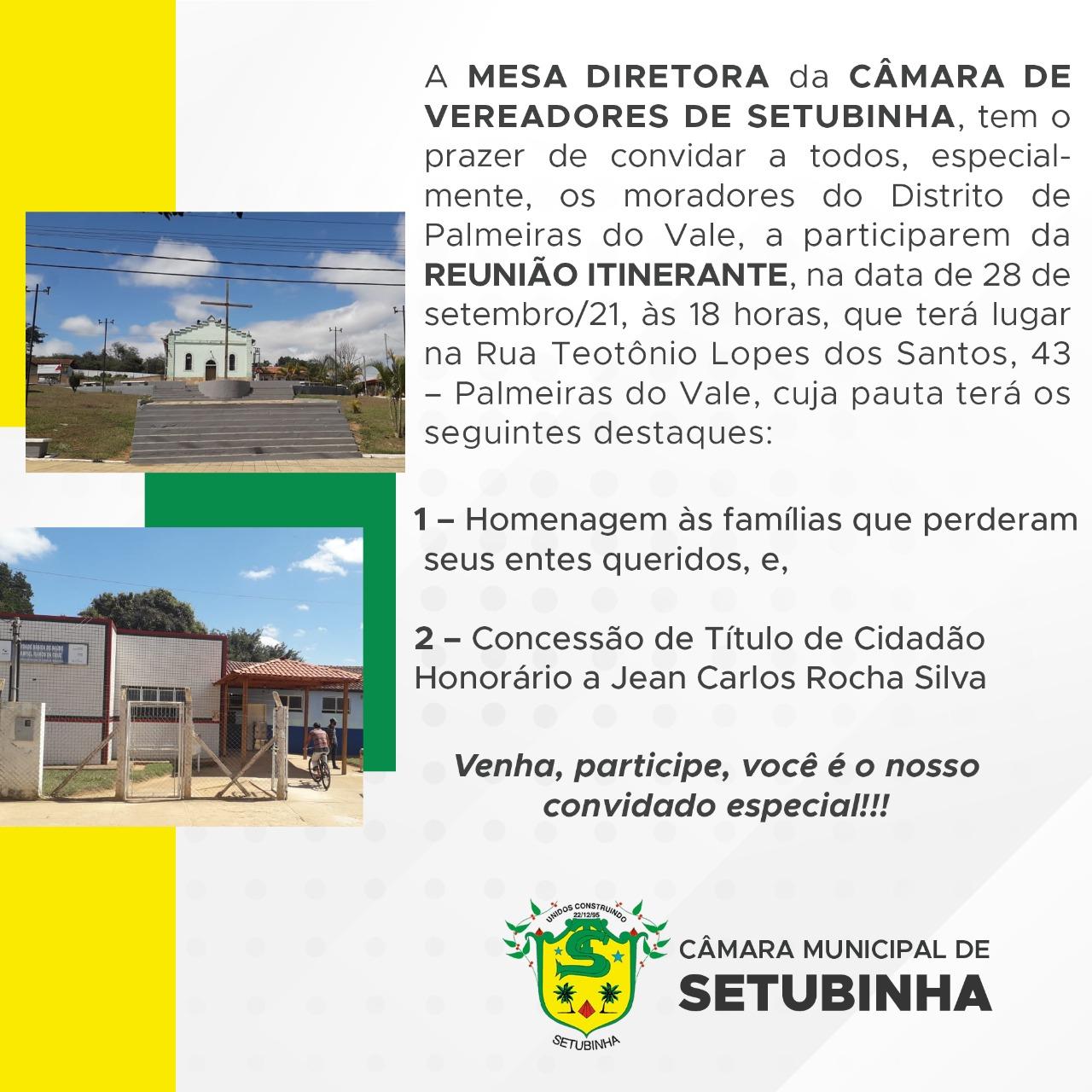 REUNIÃO ITINERANTE