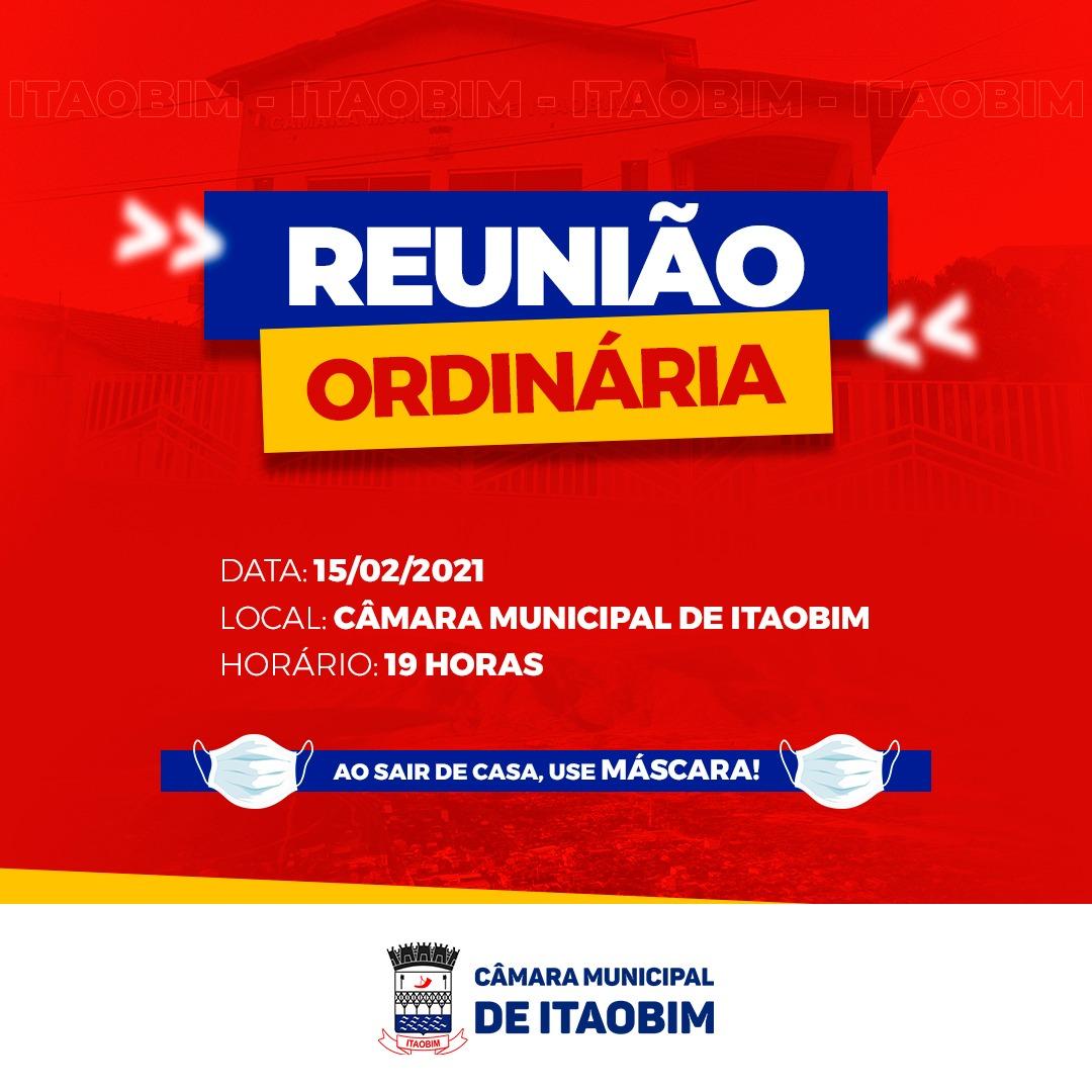 REUNIÃO ORDINÁRIA - 15/02/2021