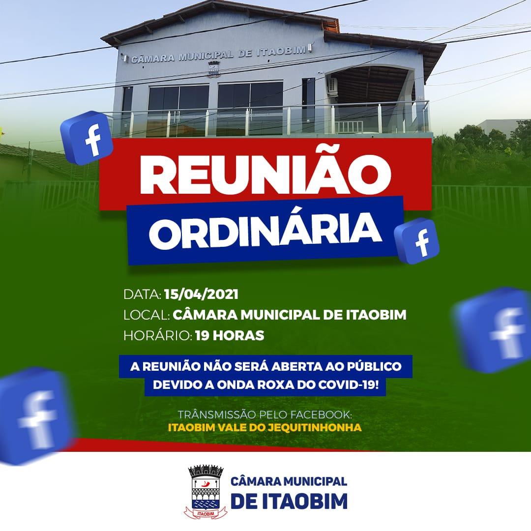 REUNIÃO ORDINÁRIA - 15/04/2021