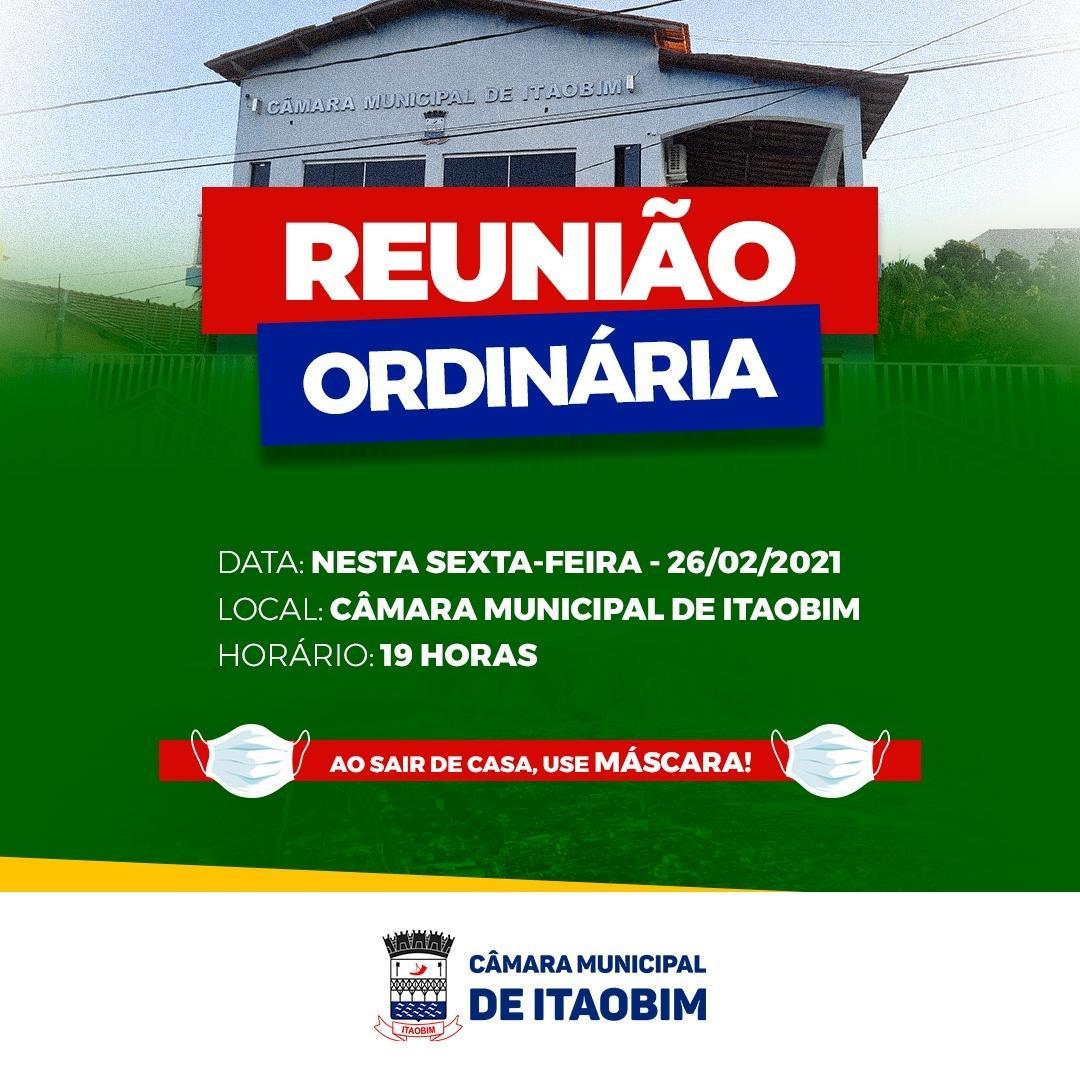REUNIÃO ORDINÁRIA - 26/02/2021