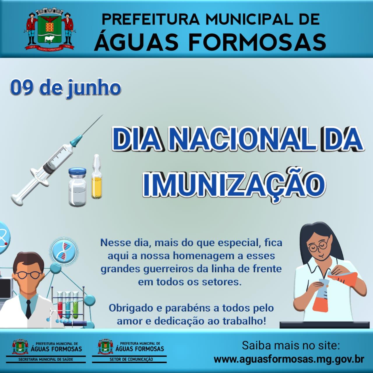 09 DE JUNHO, DIA NACIONAL DA IMUNIZAÇÃO!