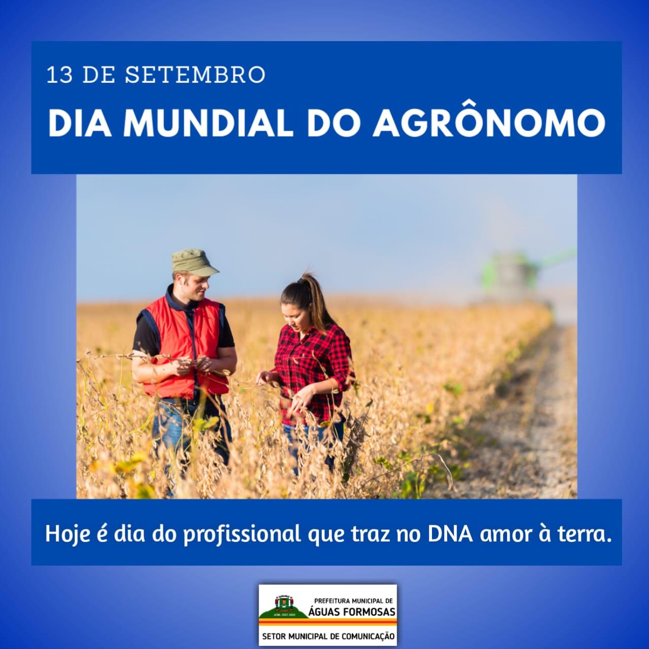 13 DE SETEMBRO - DIA MUNDIAL DO AGRÔNOMO