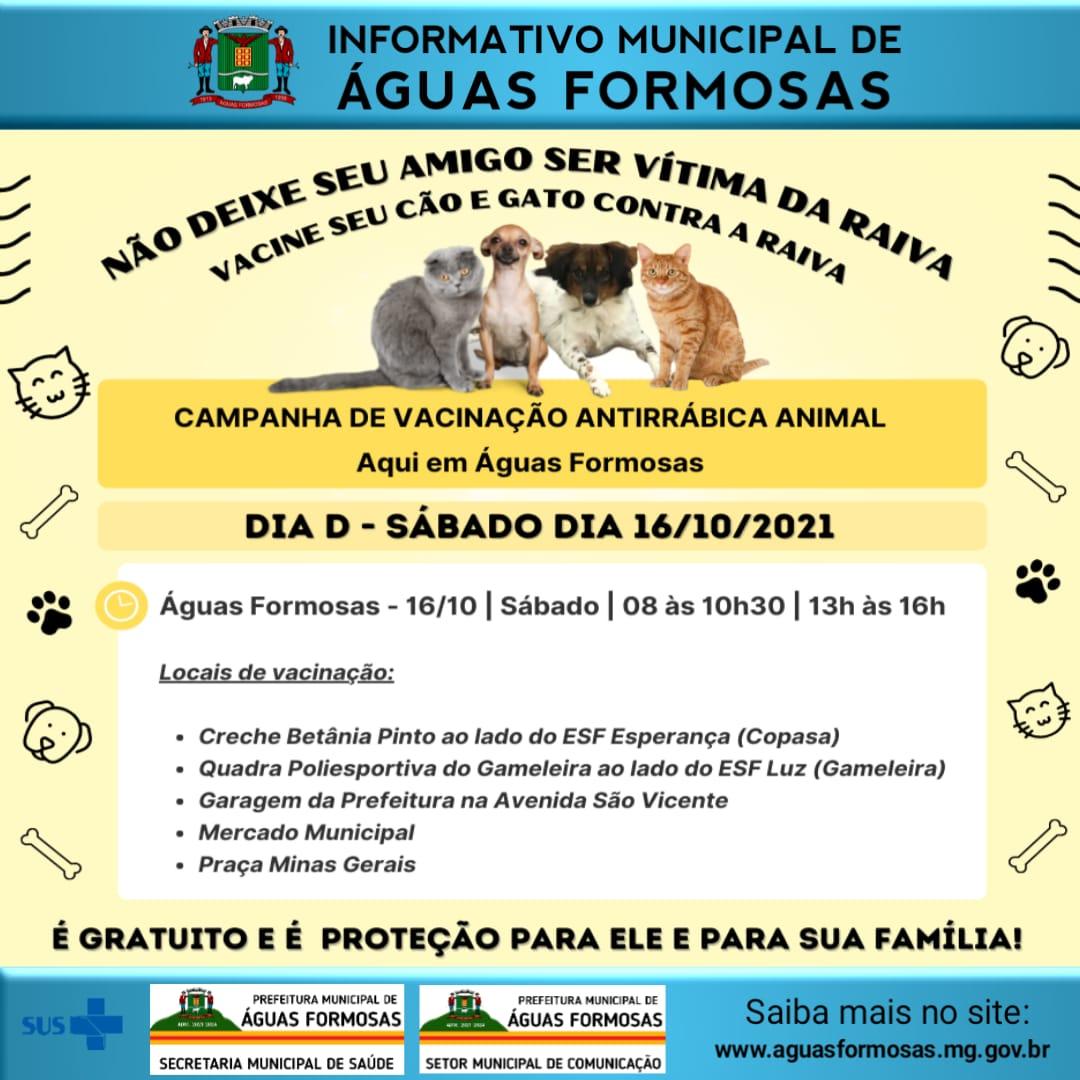 CAMPANHA DE VACINAÇÃO ANTIRRÁBICA ANIMAL EM ÁGUAS FO...
