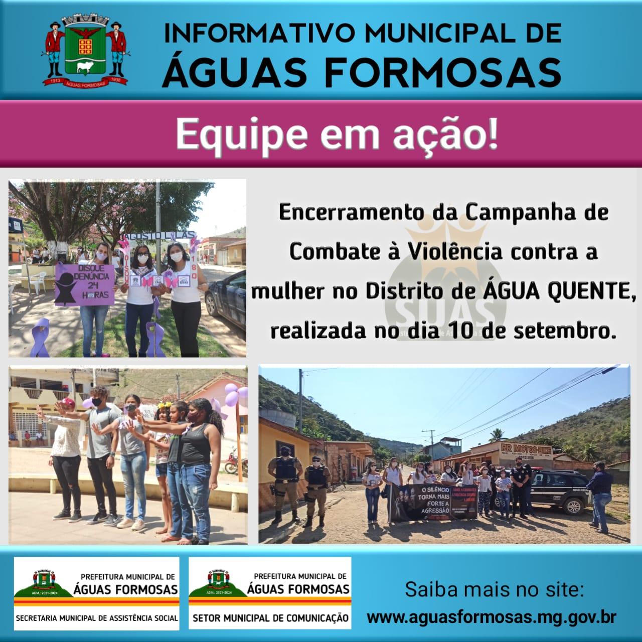 ENCERRAMENTO DA CAMPANHA DE COMBATE À VIOLÊNCIA CONT...