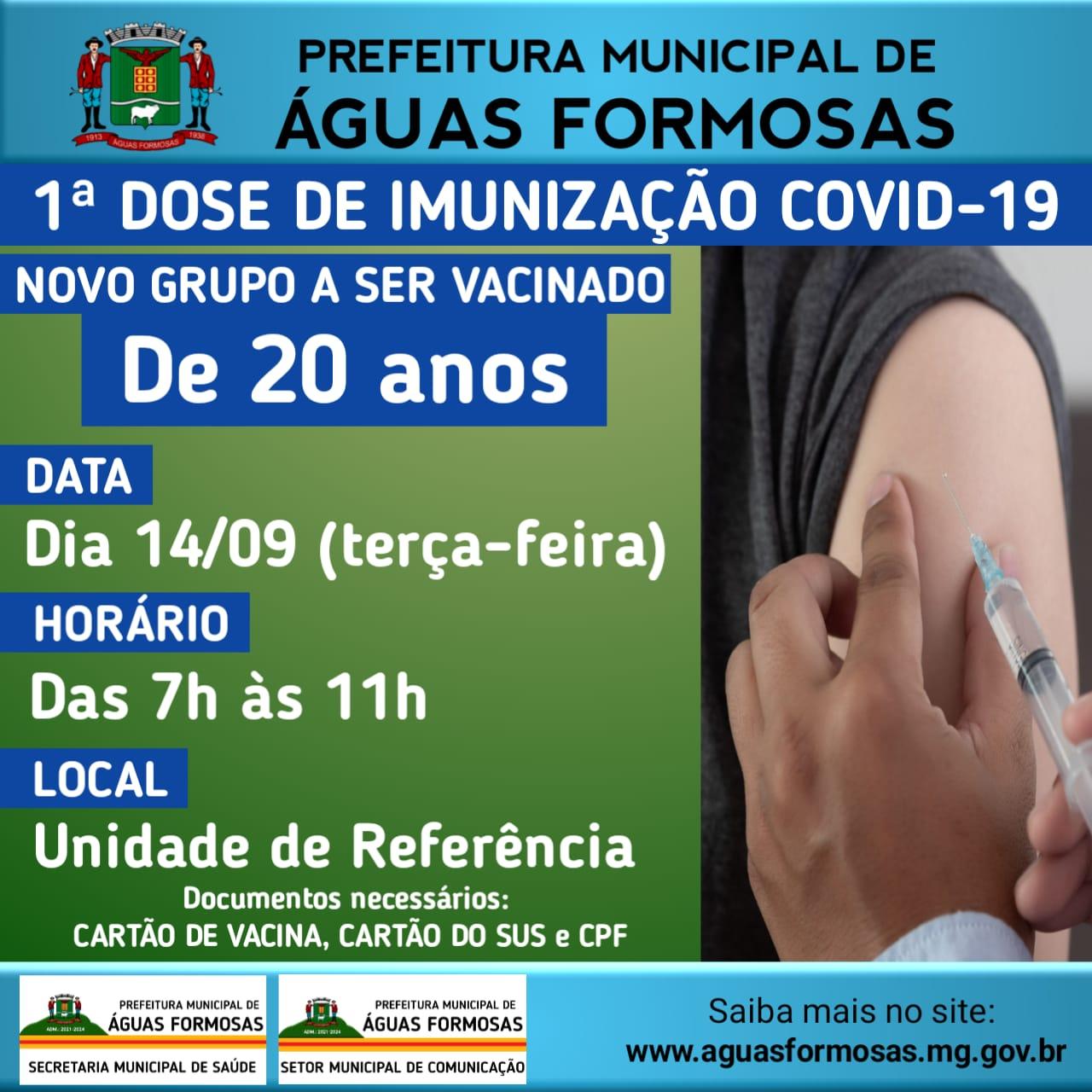 VACINAÇÃO CONTRA A COVID 19 1ª DOSE - GRUPO ACIMA DE...