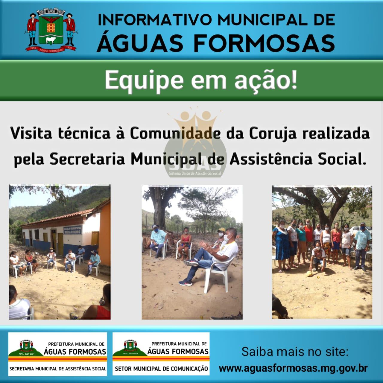 VISITA TÉCNICA À COMUNIDADE DA CORUJA REALIZADA PELA...