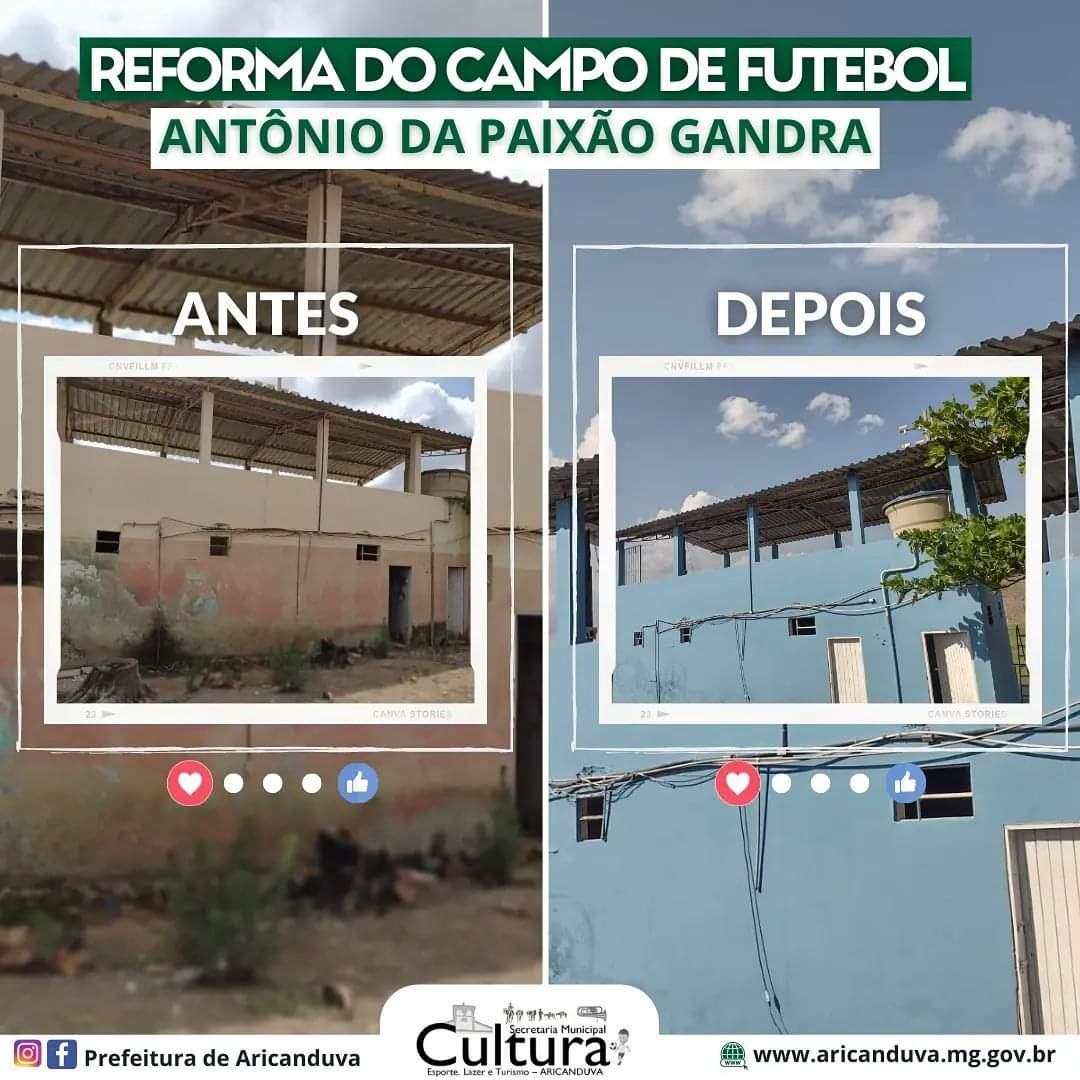 REFORMA CAMPO DE FUTEBOL ANTÔNIO DA PAIXÃO GANDRA
