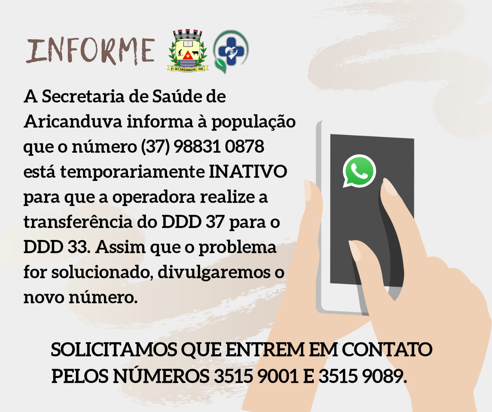 INFORME - SECRETARIA DE SAÚDE