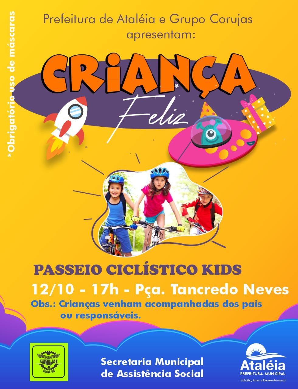 CRIANÇA FELIZ - PASSEIO CICLÍSTICO KIDS