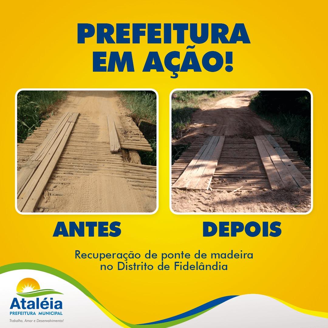PREFEITURA DE ATALÉIA FINALIZA RECUPERAÇÃO DE PONTE ...