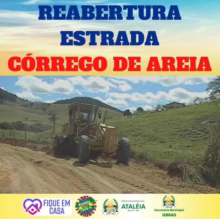 REABERTURA DA ESTRADA DO CÓRREGO DE AREIA