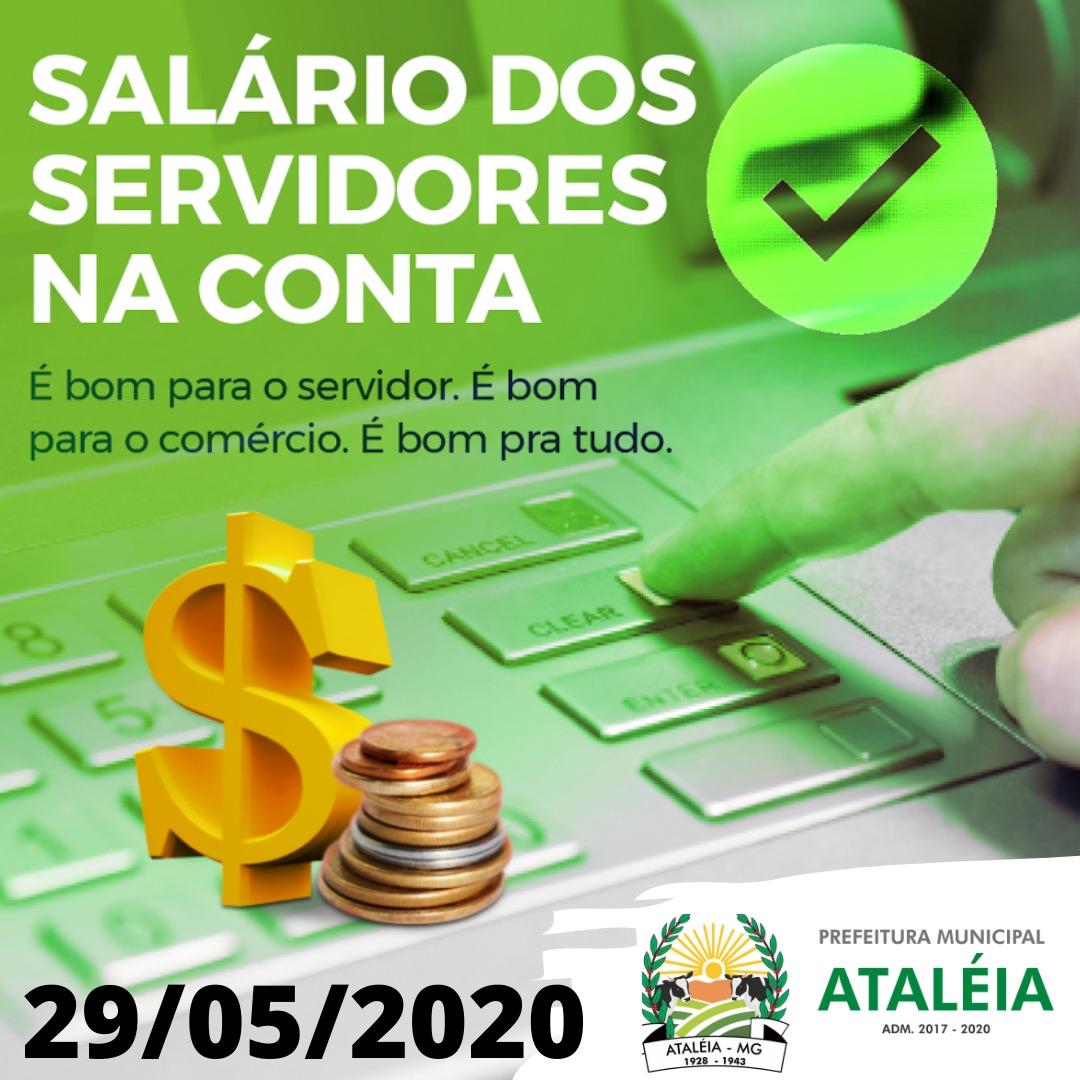 SALÁRIO DOS SERVIDORES NA CONTA