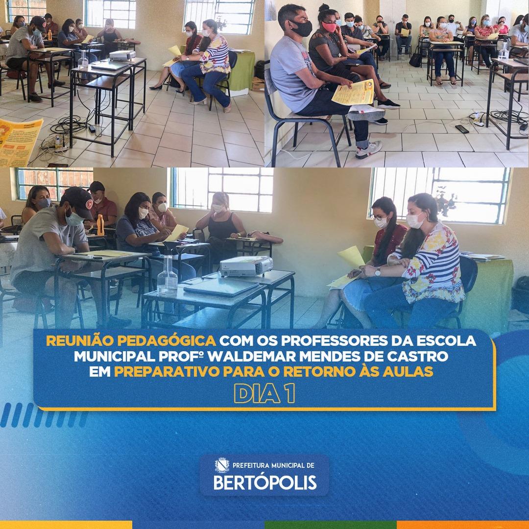 1º DIA DE REUNIÃO EM PREPARATIVO PARA O RETORNO ÀS A...