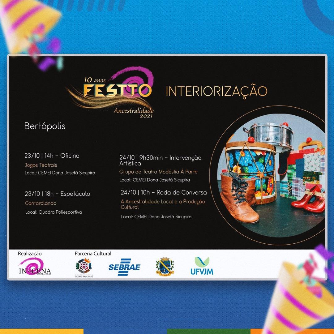 EDIÇÃO 2021 DO FESTTO ACONTECE EM BERTÓPOLIS