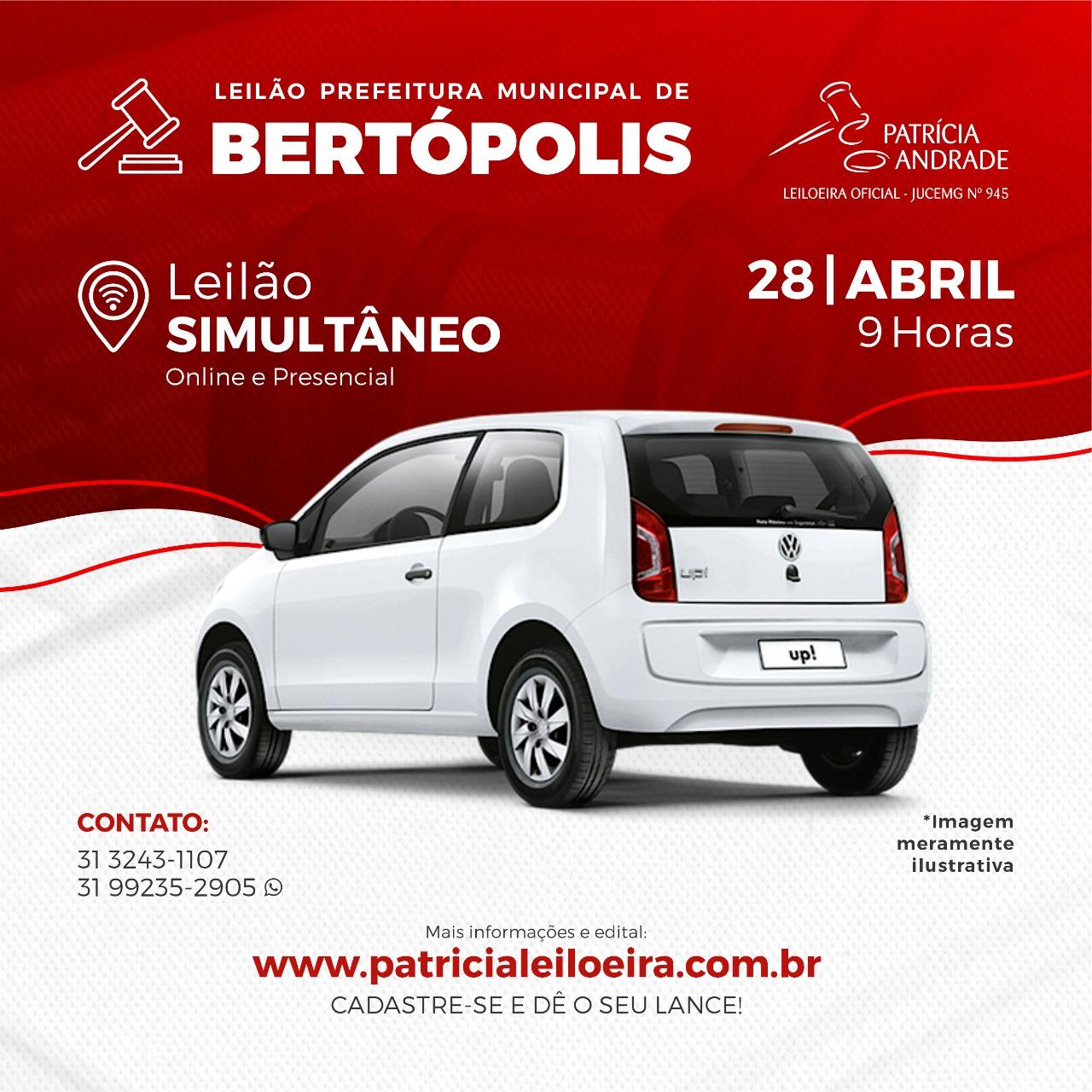 LEILÃO PREFEITURA MUNICIPAL DE BERTÓPOLIS