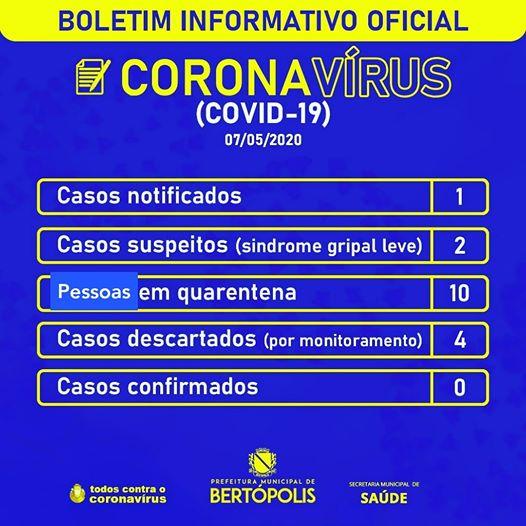 BOLETIM DIÁRIO INFORMATIVO OFICIAL 07 DE MAIO