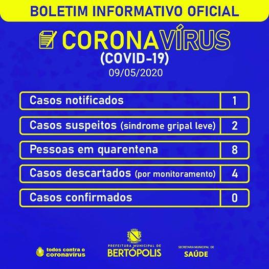 BOLETIM DIÁRIO INFORMATIVO OFICIAL 09 DE MAIO