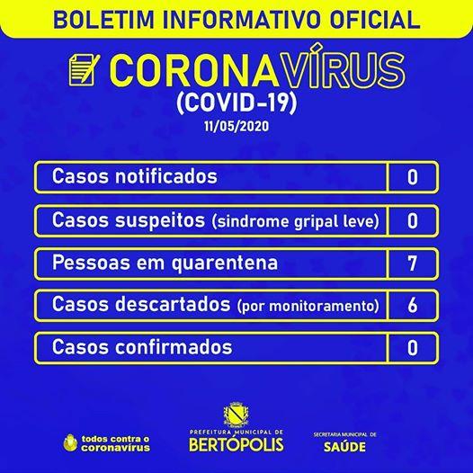 BOLETIM DIÁRIO INFORMATIVO OFICIAL 11 DE MAIO