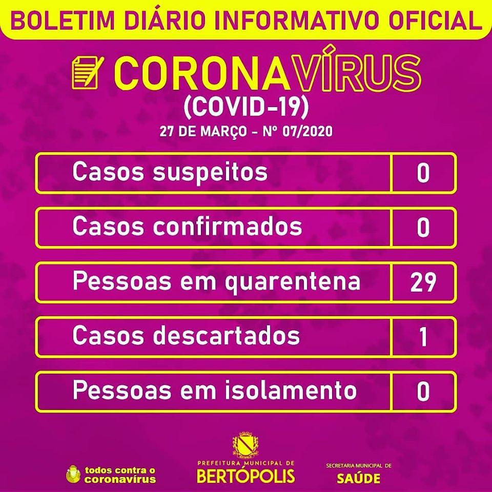 BOLETIM DIÁRIO INFORMATIVO OFICIAL 27 DE MARÇO