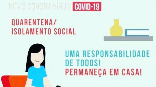 ORIENTAÇÕES AOS CIDADÃOS SOBRE O ISOLAMENTO SOCIAL