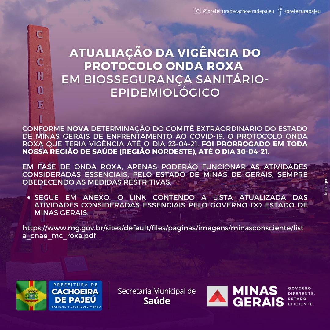 ATUALIZAÇÃO DA VIGÊNCIA DO PROTOCOLO ONDA ROXA EM BI...