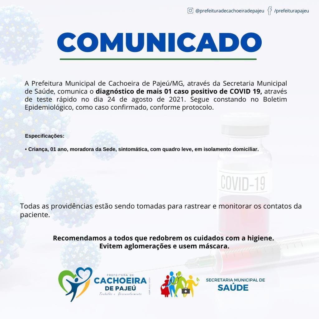 ATUALIZAÇÃO DOS CASOS CONFIRMADOS DE COVID-19 (24/08...