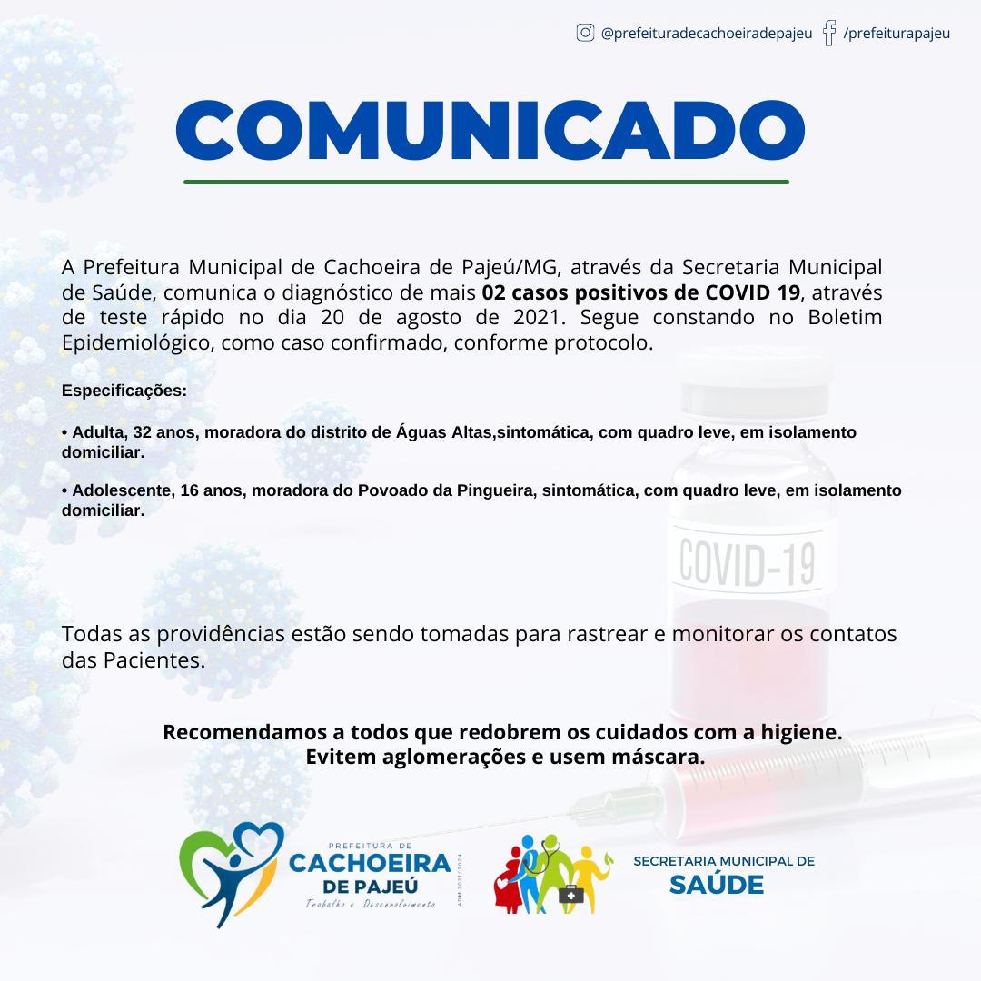 ATUALIZAÇÃO DOS CASOS CONFIRMADOS DE COVID-19