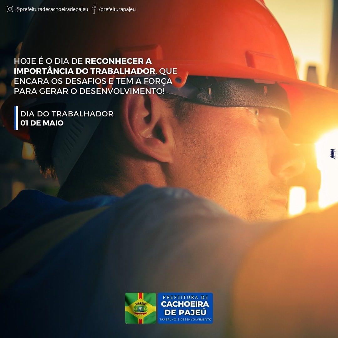 DIA DO TRABALHADOR, 01 DE MAIO