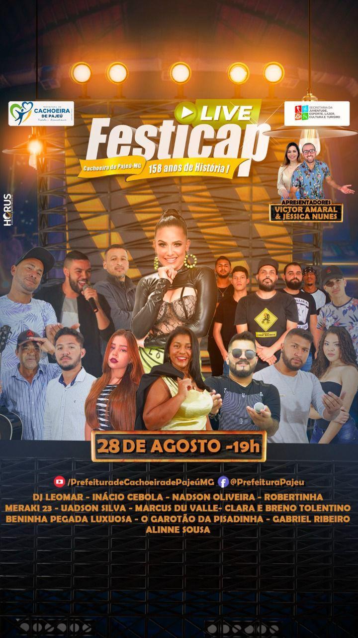 LIVE FESTICAP: CACHOEIRA DE PAJEÚ 158 ANOS DE HISTÓRIA