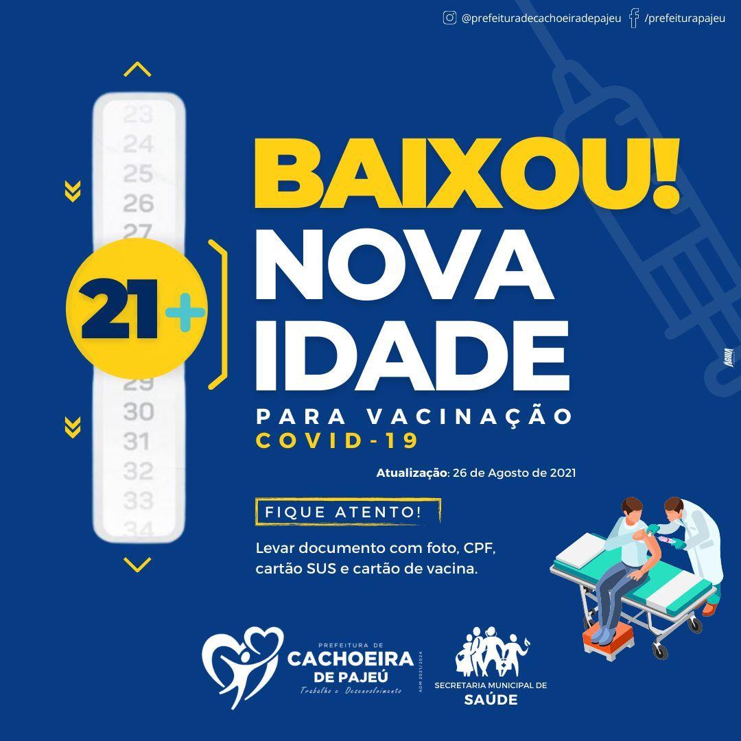 VACINAÇÃO CONTRA A COVID-19 DE PESSOAS COM IDADE DE ...