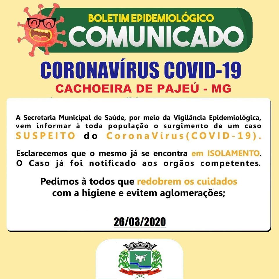 BOLETIM EPIDEMIOLÓGICO 26 DE MARÇO DE 2020