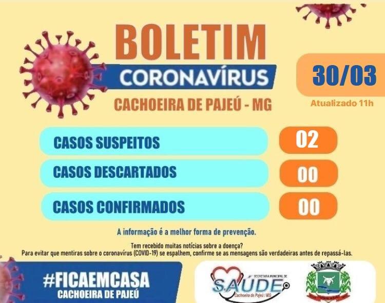BOLETIM EPIDEMIOLÓGICO 30 DE MARÇO DE 2020