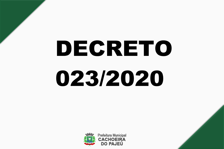 DECRETO 023/2020 - RECESSO ESCOLAR