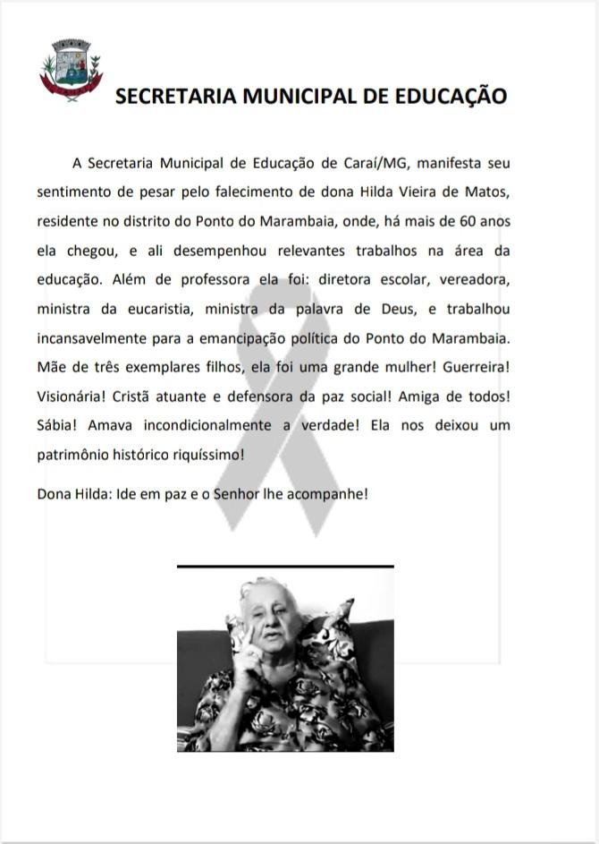 NOTA DE PESAR 15/09/2021