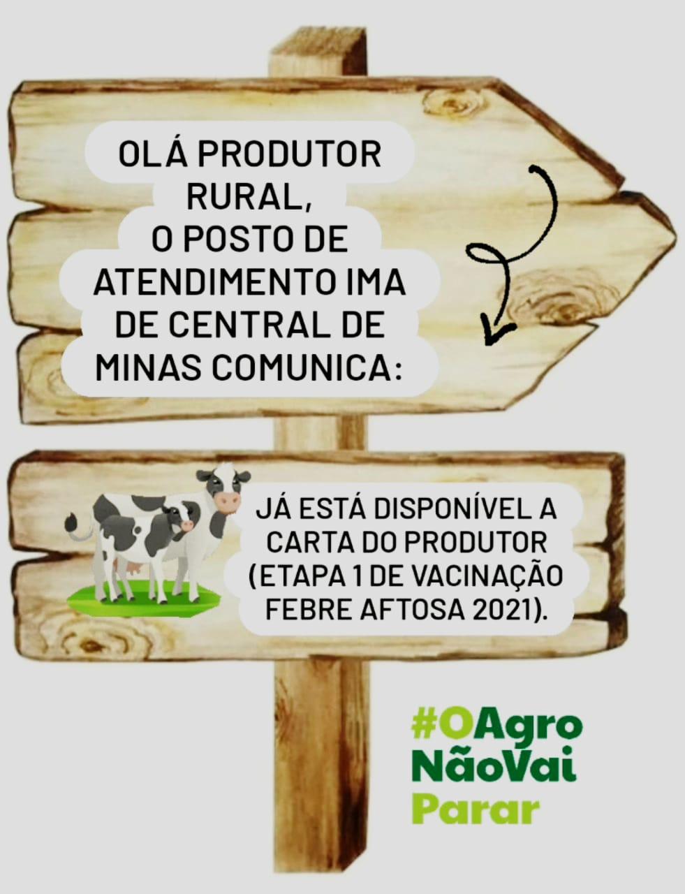 VACINAÇÃO FEBRE AFTOSA ETAPA 01/2021