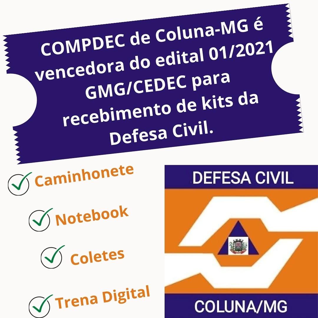 COMPDEC DE COLUNA -MG É VENCEDORA DO EDITAL 01/2021 ...