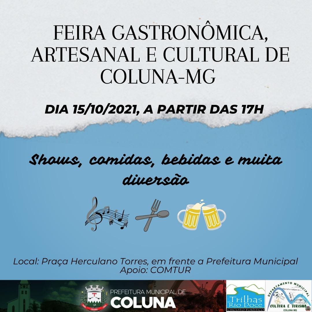 FEIRA GASTRONÔMICA ARTESANAL E CULTURAL DE COLUNA-MG
