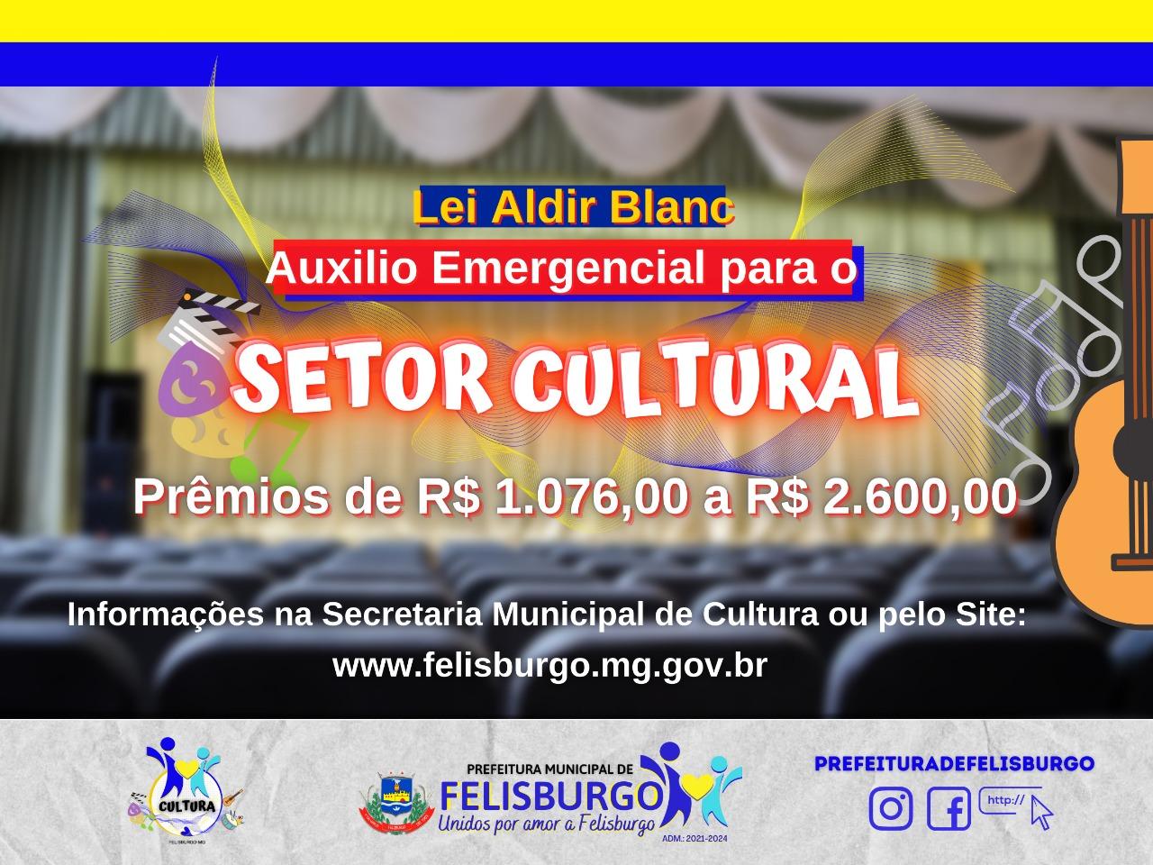 LEI ALDIR BLANC AUXILIO EMERGENCIAL PARA O SETOR CUL...