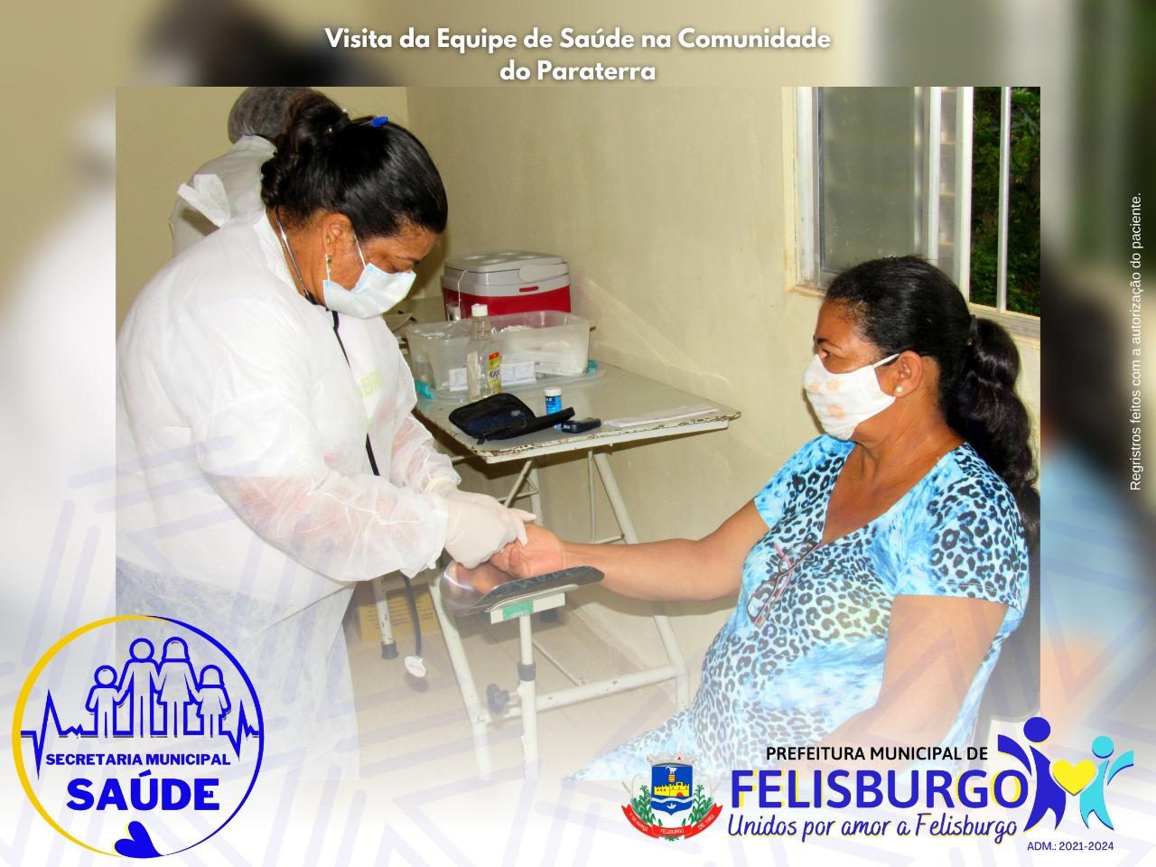 VISITA DA EQUIPE DE SAÚDE NA COMUNIDADE DO PARATERRA
